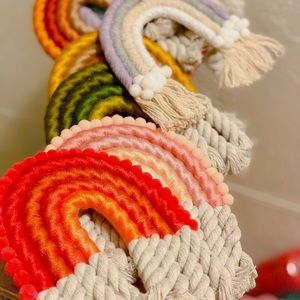 Other - Rainbow Macrame Decor